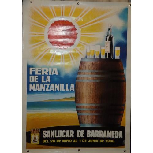 FERIA DE LA MANZANILLA.-  AÑO 1986.- MED 50X 70 CTM