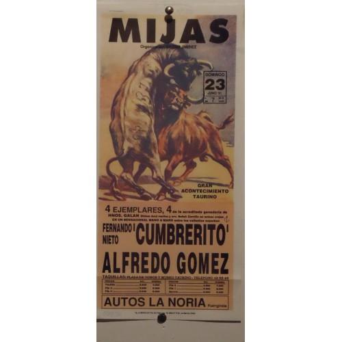 PLAZA DE TOROS DE MIJAS 27-6-91- 17X34CTM