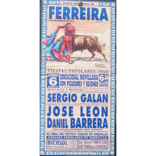 PLAZ DE TOROS DE FERRERIRA.- 6 AGOST0-2000.- MED 15X30 CTM