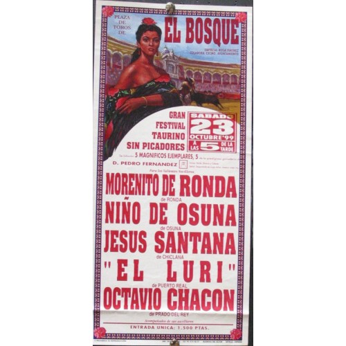 PLAZ DE TOROS DE EL BOSQUE.- 23 OCTUB.1999.- MED 15X30 CT
