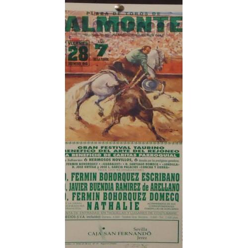 PLA. DE TOROS DE ALMONTE.- 28-06-96.- MED 34X17CTM