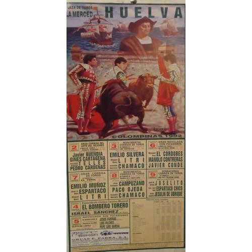 PLA. DE TOROS DE HUELVA.- 2-8-92.- MED 22X 44 CTM