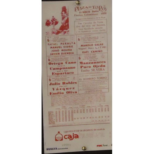 PLA DE TOROS DE HUELVA.- 30-7-86.- MED 17X34 CTM