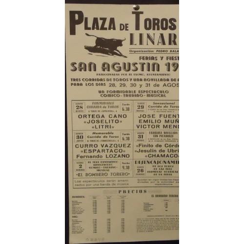 PLAZ DE TOROS DE LINARES.- 28-8-90.- MED 22X 44 CTM