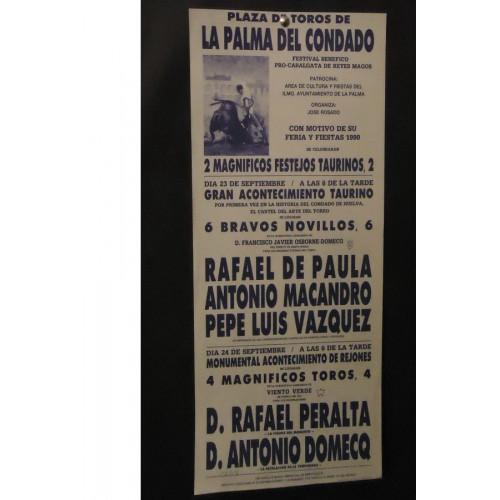 PLAZ DE TOROS DE LA PALMA DEL CONDADO.- 23-9-90.- MED 22X44