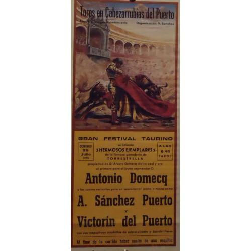 PLAZ E TOROS DE CABAZARUBIA DEL PUERTO.-29-7-90.-17X34