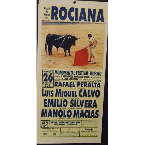 PLAZ. DE TOROS DE ROCIANA.- 26-8-90.- MED 22X 44 CTM