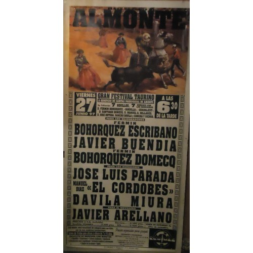 PLAZ DE TOROS DE ALMONTE.- 27-06-97.- MED 90X180CTM
