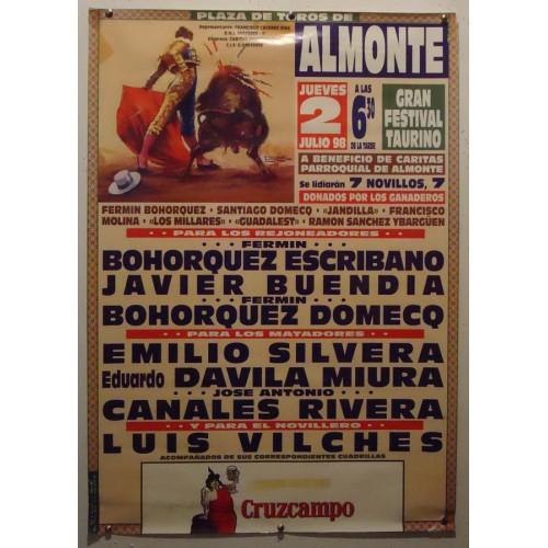 PLAZ DE TOROS DE ALMONTE.- 20-7-98.- MED 48X70 CTM