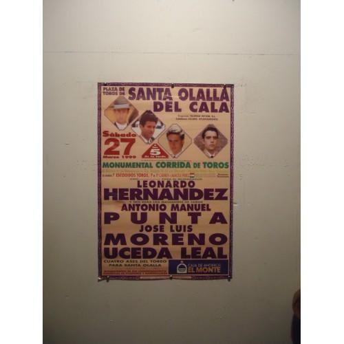 PLAZA DE TOROS DE SANTAOLALLA- 27-3-99.- MED 50X70 CTM