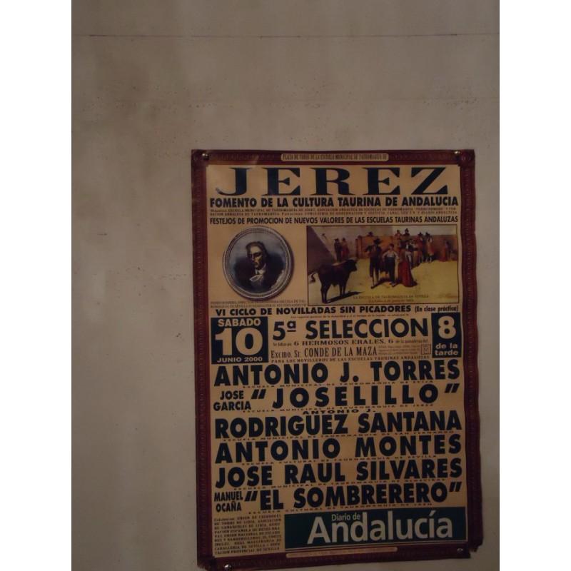 PLAZ DE TOROS JEREZ DE LA FRON.-10 JUNIO 2000.- MED 45X 65 CTM