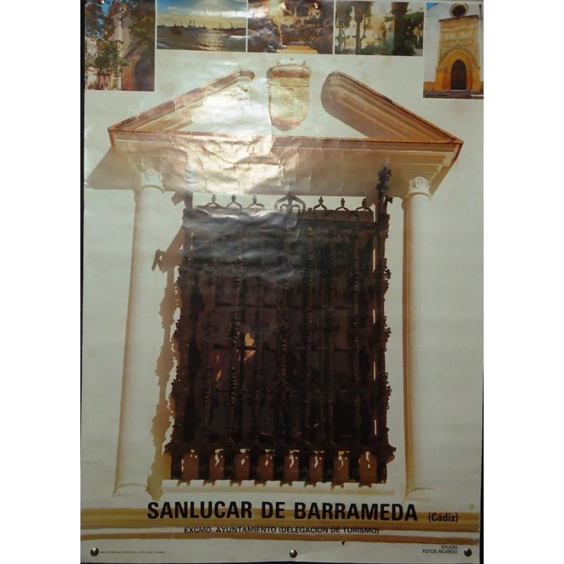 LAMINA PUBLICITARIA DE SANLUCAR.- REJAS DEL PALACIO