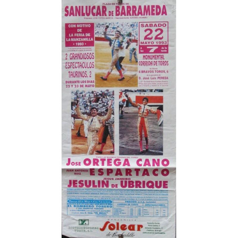 PLAZA DE TOROS DE SANLUCAR- 22-5-93- MED 20X 45 CTM