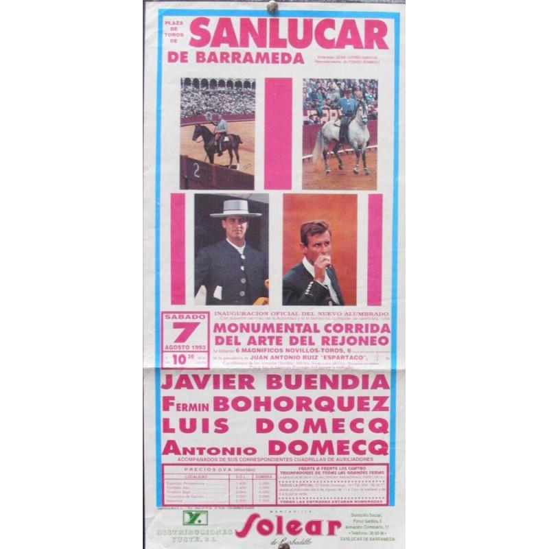 PLAZA DE TOROS DE SANLUCAR.- 7-8-93- MED 20X45 CTM