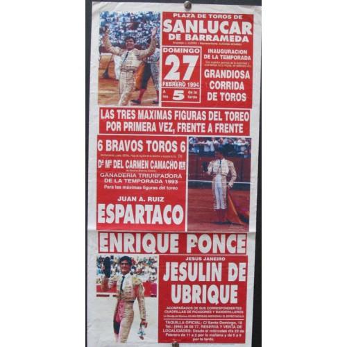 PLAZA DE TOROS DE SANLUCAR.-27-02-94- MED 20X45 CTM