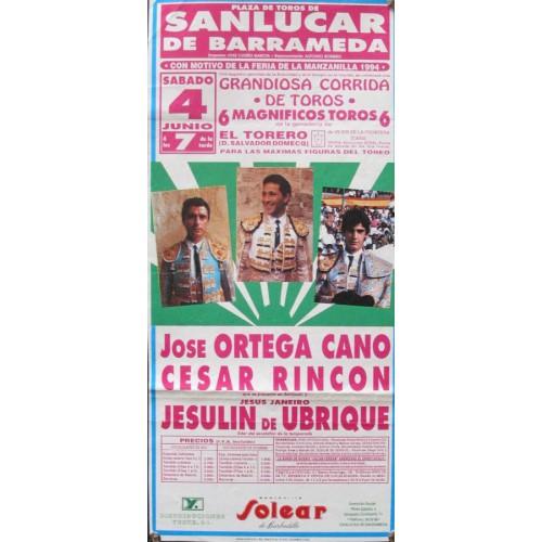 PLAZA DE TOROS DE SANLUCAR-4-6-94.- MED 20X45 CTM