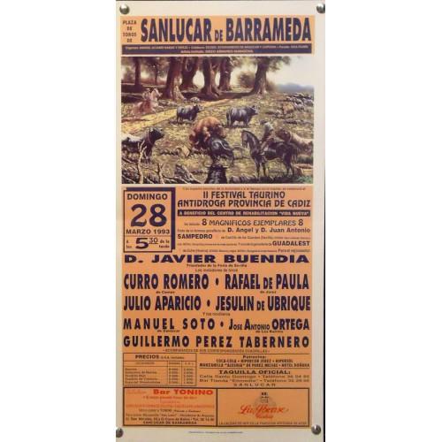 PLAZA DE TOROS DE SANLUCAR.- 28-3-93.- MED 20X44 CTM