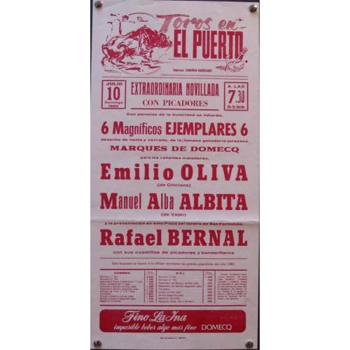 PLAZ DE  TOROS DE PTO. STA. MARIA-10-07-83