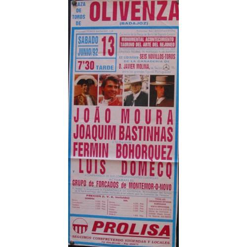 PLAZ DE TOROS DE OLIVENZA.-13 JUNIO-92.- MED 20X 30 CTM