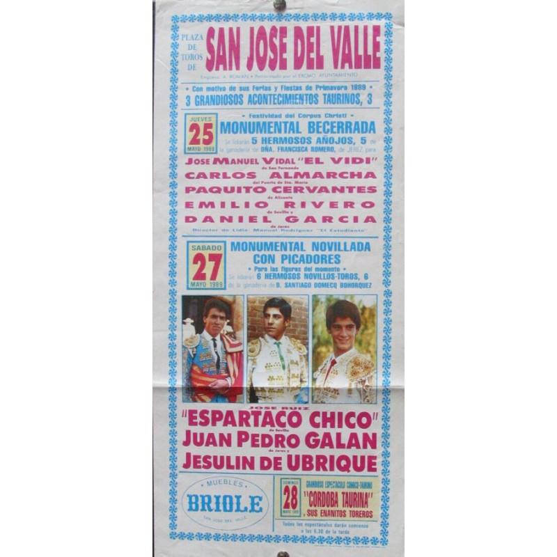 PLAZ DE SAN JOSE DEL VALLE.- 25 Y 27 MAYO 89.- MED 21 X 44 CTM