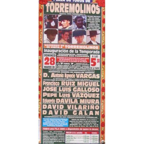 PLAZ DE TOROS DE TORREMOLINO.- 28 MARZO 99- MED 15X31CTM