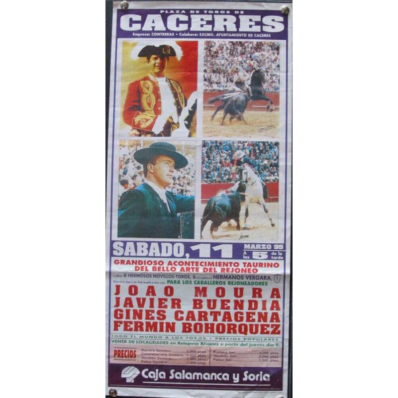 PLA DE TOROS DE CACERES.- 11 MARZO 95.- MED 20X 42 CTM