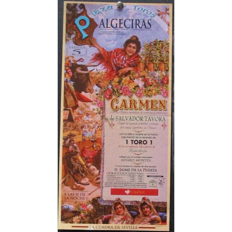 PLAZ DE TOROS DE ALGECIRAS.-5 JUNIO 99.- MED 20X50CTM