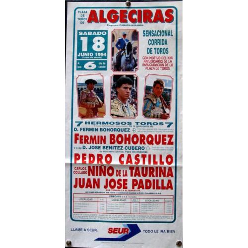 PLA DE TOROS DE ALGECIRAS-18 JUNIO 94.- 20X50 CTM