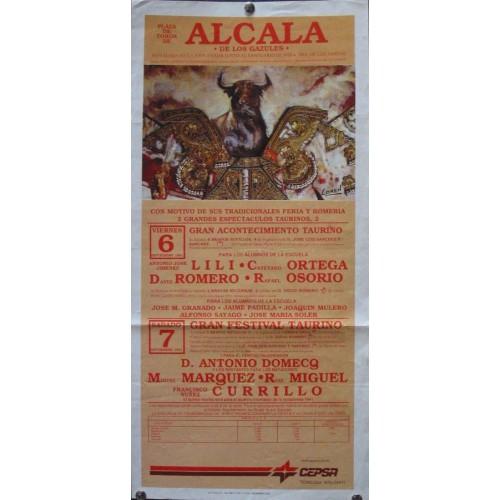 PLAZ DE TOROS DE ALCALA DE LOS GAZULES.- 6-09-1991. 20X50