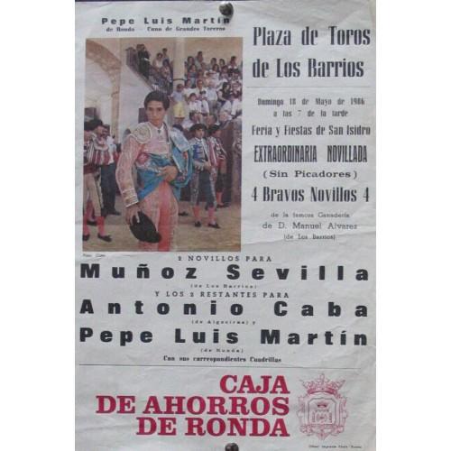 PLAZ DE TOROS DE LOS BARRIOS.- 18 MAYO 1986.- 21X31 CTM