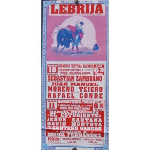 PLAZ DE TOROS DE LEBRIJA.- 10-09-99.-  MED 15X35 CTM