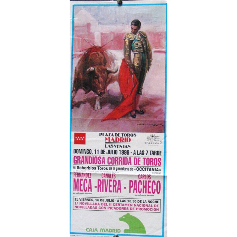 PLAZ DE TOROS DE MADRID.- 11 JULIO 1999.- MED 18X43 CTM