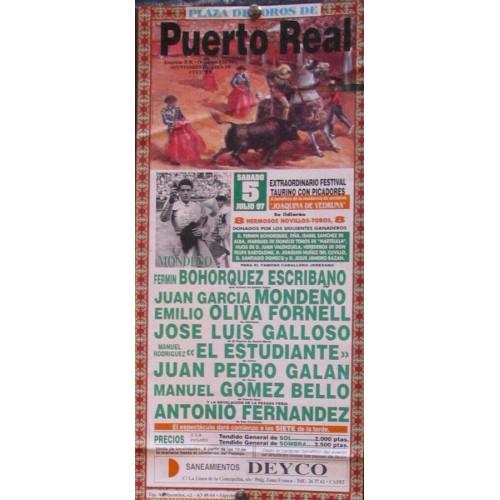 PLAZ DE TOROS DE PTO. REAL-5 JULIO 1997.- MED 15X30 CTM