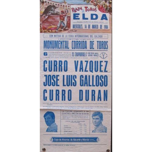PLAZA DE TOROS DE ELDA.- 14 MARZO 1984.- MED 20X45 CTM