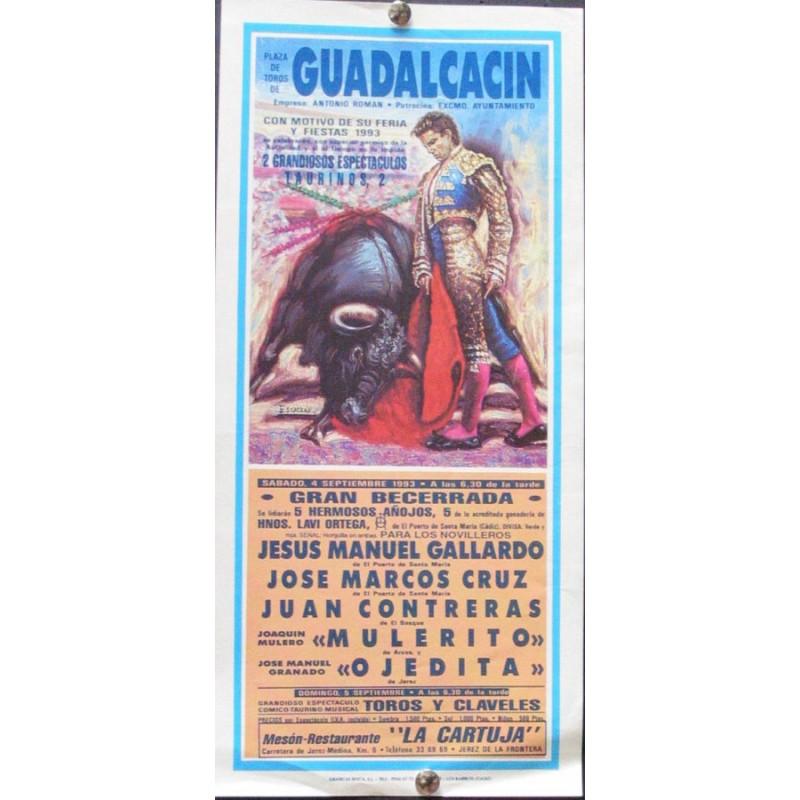 PLAZ DE TOROS DE GUADALCACIN.- 4-SEPT.- 1993.- MED15X30 CTM