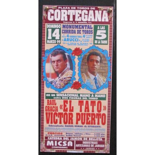 PLAZ DE TOROS DE CORTEGANA.- 14 MARZO 1999.- MED 15X 30 CTM
