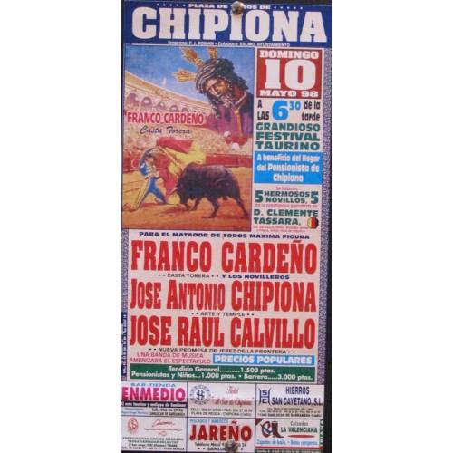 PLAZ DE TOROS DE CHIPIONA.- 10 MAYO 1998.- MED 15X 30 CTM