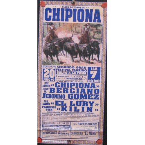PLA DE TOROS DE CHIPONA.- 20 JUNIO 1999.- MED 15X30 CTM