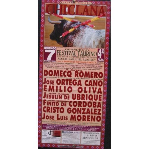 PLAZ DE TOROS DE CHICLANA.- 7 MARZO 1999.- MED 20X50 CTM