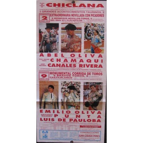 PLA DE TOROS DE CHICLANA.- 2 Y 9 ENERO-94- MED 20X35 CTM