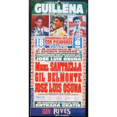 PLA DE TOROS DE GUILLENA.- 18 SBRIL 1998.- 15X 30 CTM
