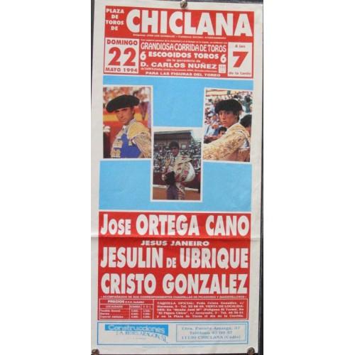PLAZ DE TOROS DE CHICLANA-22 MAYO 1994.- MED 20X 44 CTM