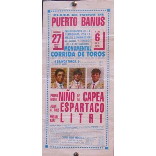 PLAZ DE TOROS DE PTO.BANUS 27 marzo 1988 med 15x30 ctm