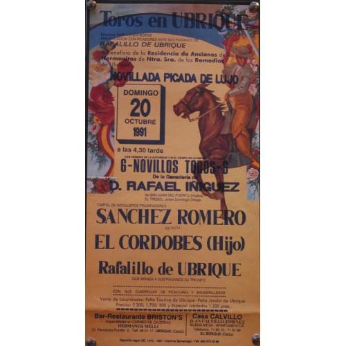 PLAZA DE TOROS DE UBRIQUE.-20 0CTUBRE 19991.- MED 20X45 CTM