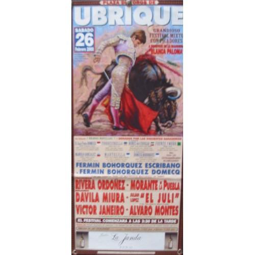 PLAZ DE TOROS DE UBRIQUE- 26 FEBRERO 2000- MED 20X45 CTM