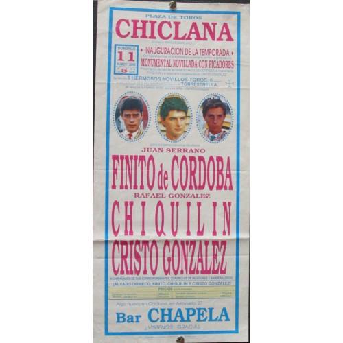 PLAZ DE TOROS DE CHICLANA - 11 MARZO 1990.- MED 20X44 CTM
