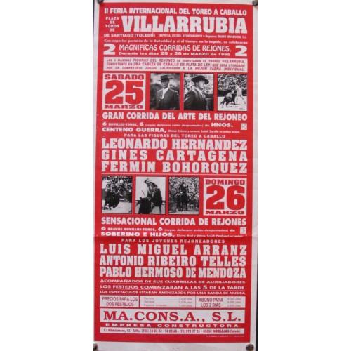 PLAZ DE TOROS DE VILLARRUBIA.- 17 AL 21 MARZO 1995-20X34 CT