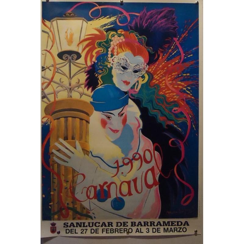 CARNAVAL DE SANLUCAR AÑO 1992 MED 50X70 CTM