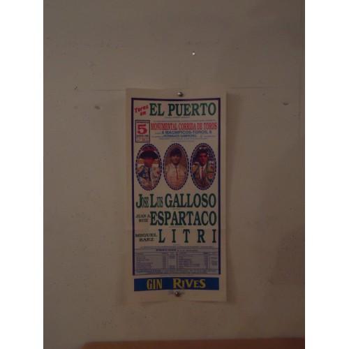 PLAZA DE TOROS DEL PUERTO.- 5-08-90- MED 20X45CTM