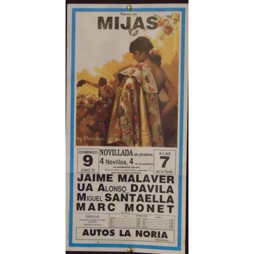 PLAZ DE TOROS DE MIJAS.- 9-6-91.- MED 22X44 CTM